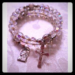 Jewelry - Vintage Rosary Memory Bracelet ♡ OOAK